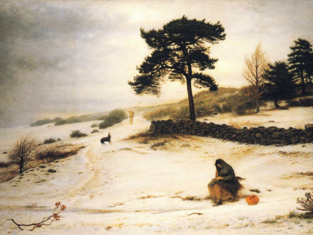 Artistic Wallpaper: John Everett Millais - Blow, Blow, Thou Winter Wind
