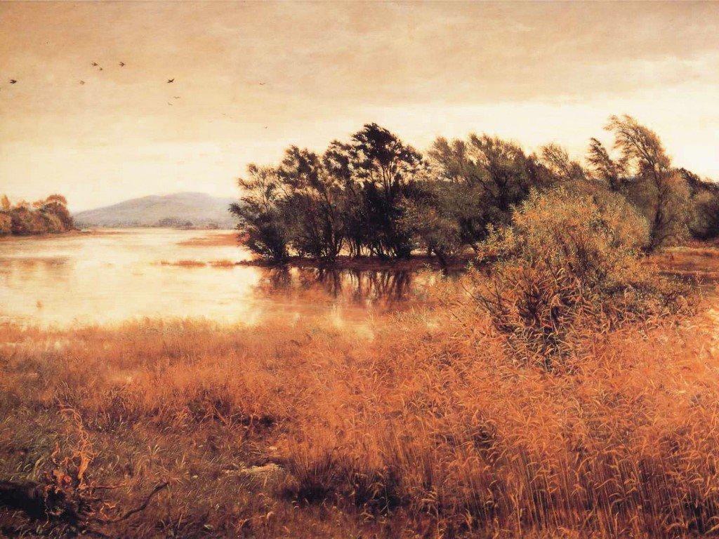 Artistic Wallpaper: John Everett Millais - Chill October