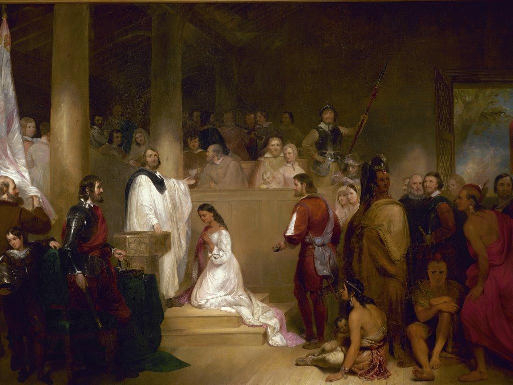 Artistic Wallpaper: John Gadsby Chapman - Baptism of Pocahontas
