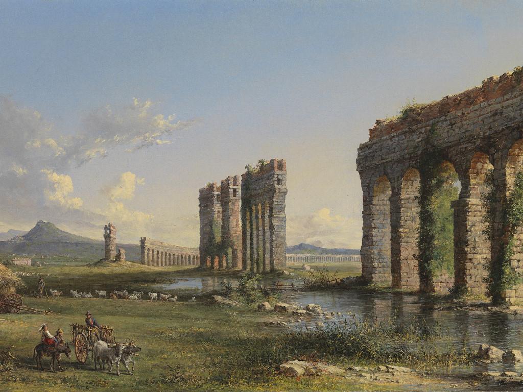 Artistic Wallpaper: John Linton Chapman - Claudian Aqueduct