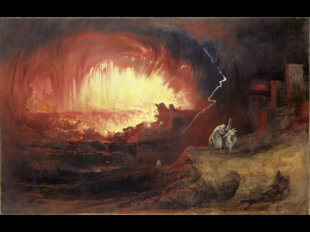 Artistic Wallpaper: John Martin - The Destruction of Sodom and Gomorrah
