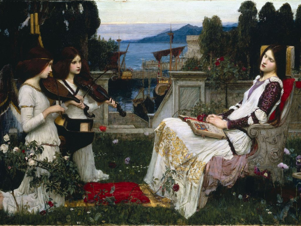 Artistic Wallpaper: John William Waterhouse - Saint Cecilia