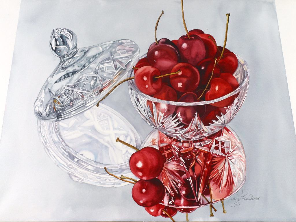 Artistic Wallpaper: Joyce Faulkner - Bowl Cherries