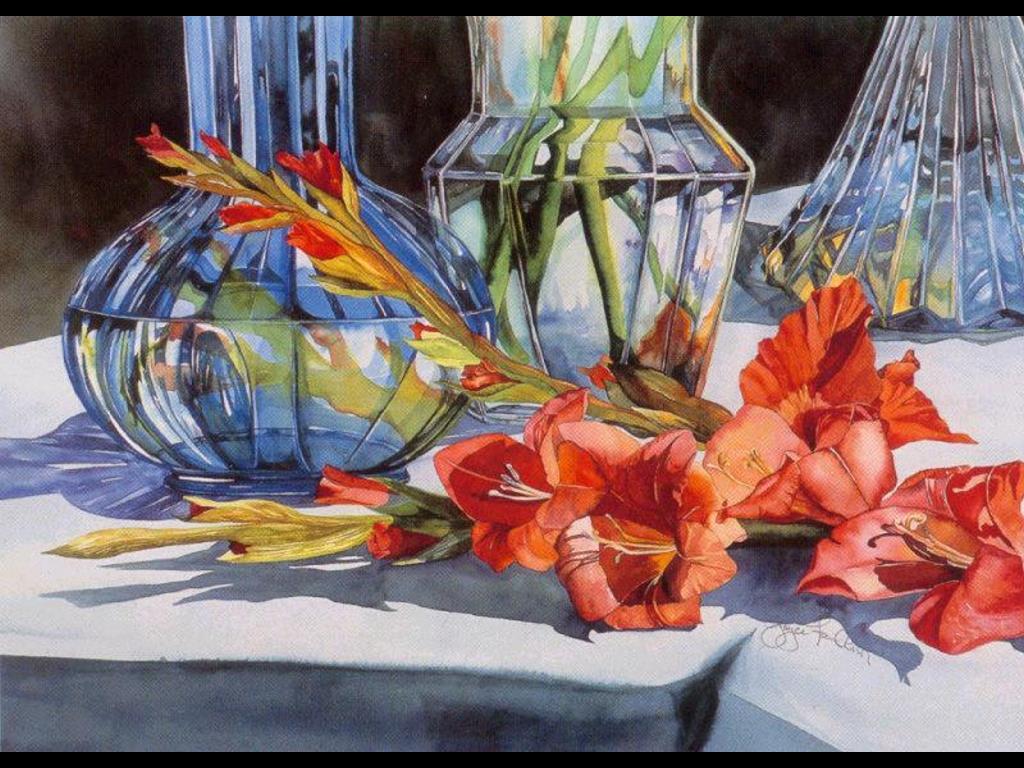 Artistic Wallpaper: Joyce Faulknor - Garden Gift