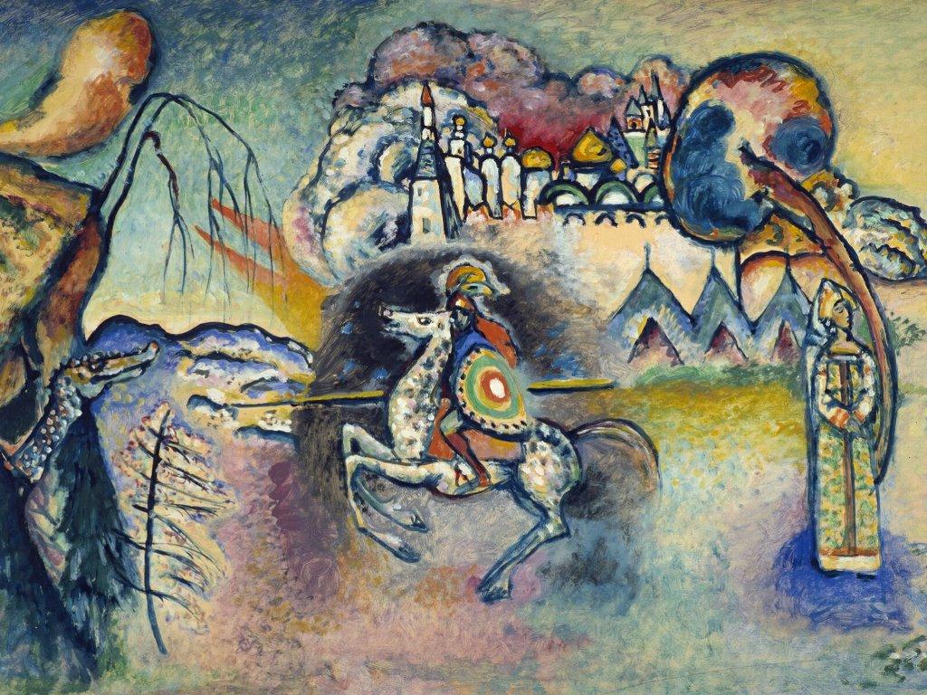 Artistic Wallpaper: Kandinsky - Horseman St George
