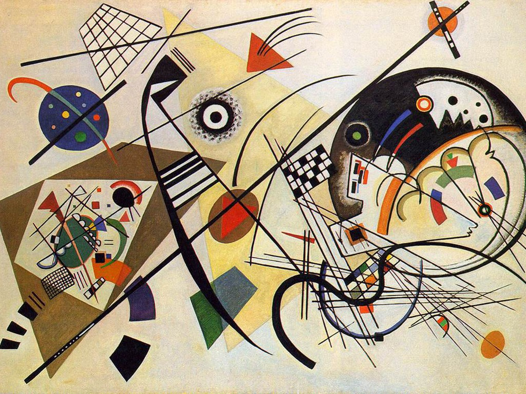 Artistic Wallpaper: Kandinsky - Transverse Lines