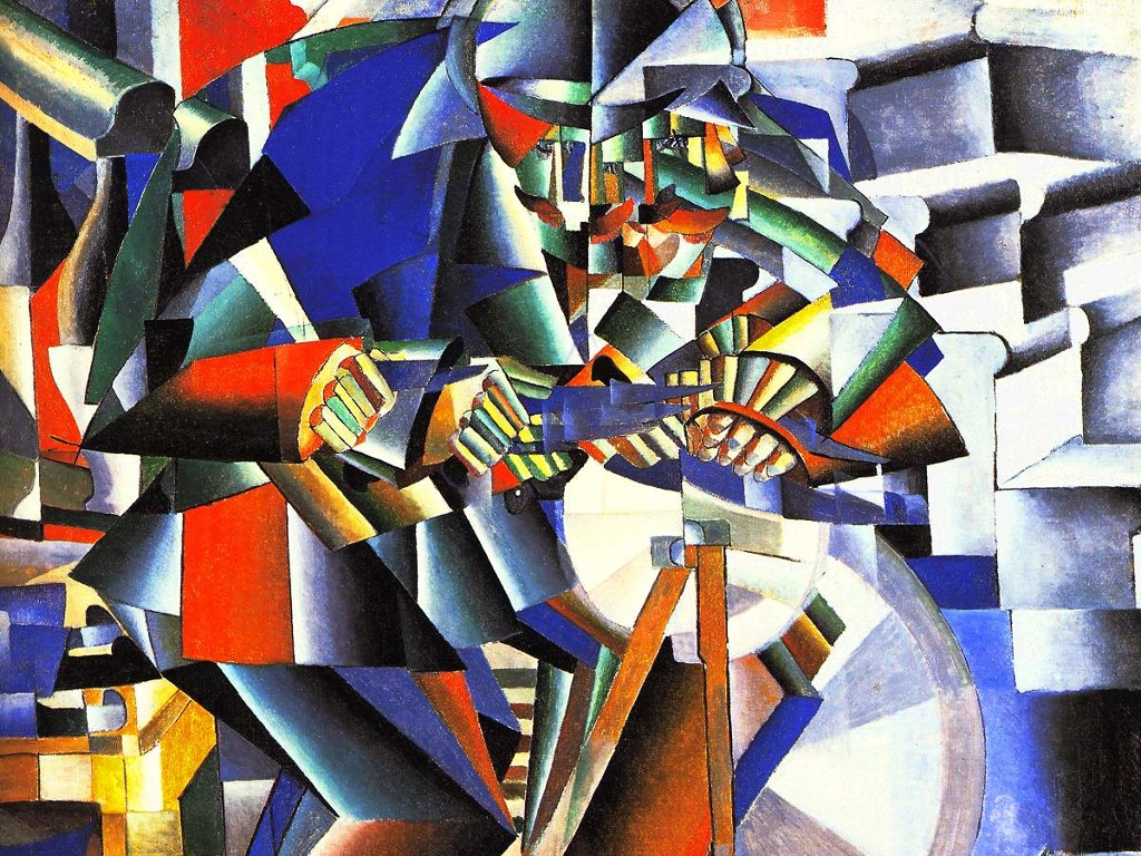Artistic Wallpaper: Kazimir Malevich - The Knifegrinder