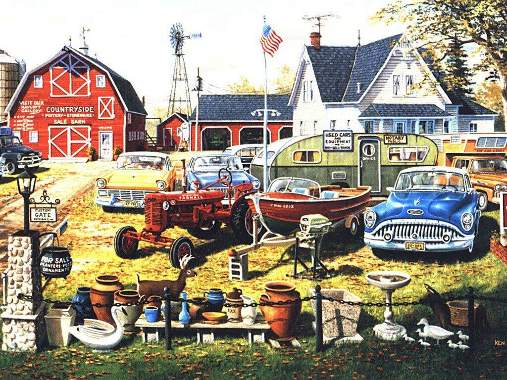 Papel de Parede Gratuito de Artes : Ken Zylla - Used Cars