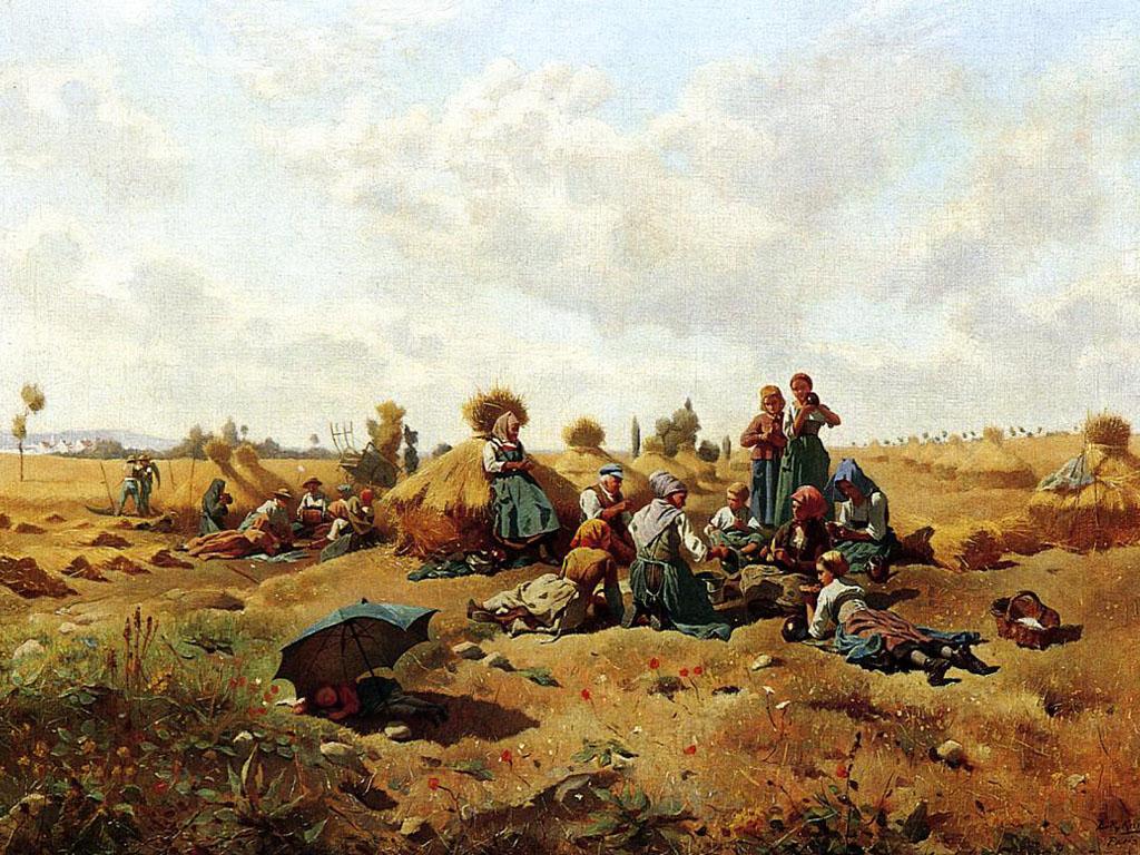 Artistic Wallpaper: Knight - Resting Harvesters