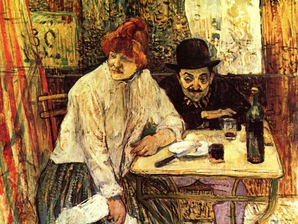 Artistic Wallpaper: Lautrec - The Last Crumbs (In The Restaurant La Mie)