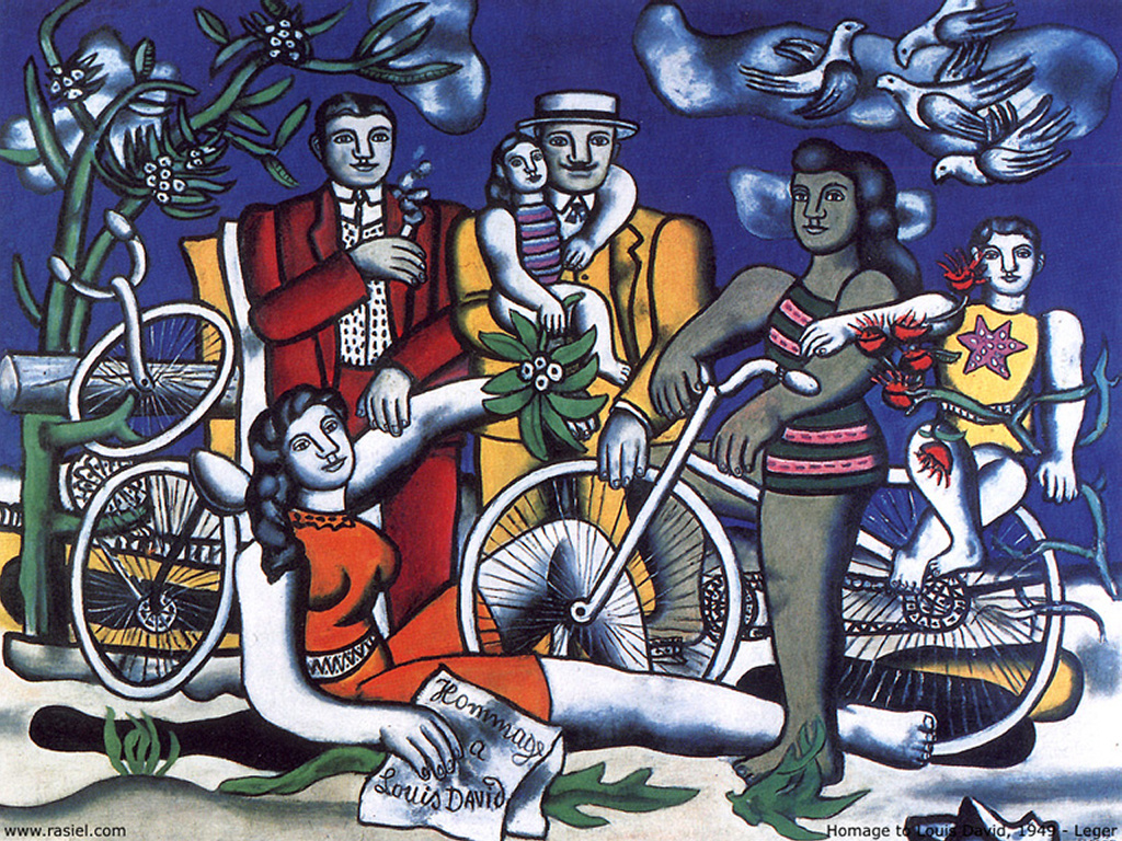 Artistic Wallpaper: Leger - Homage to Louis David