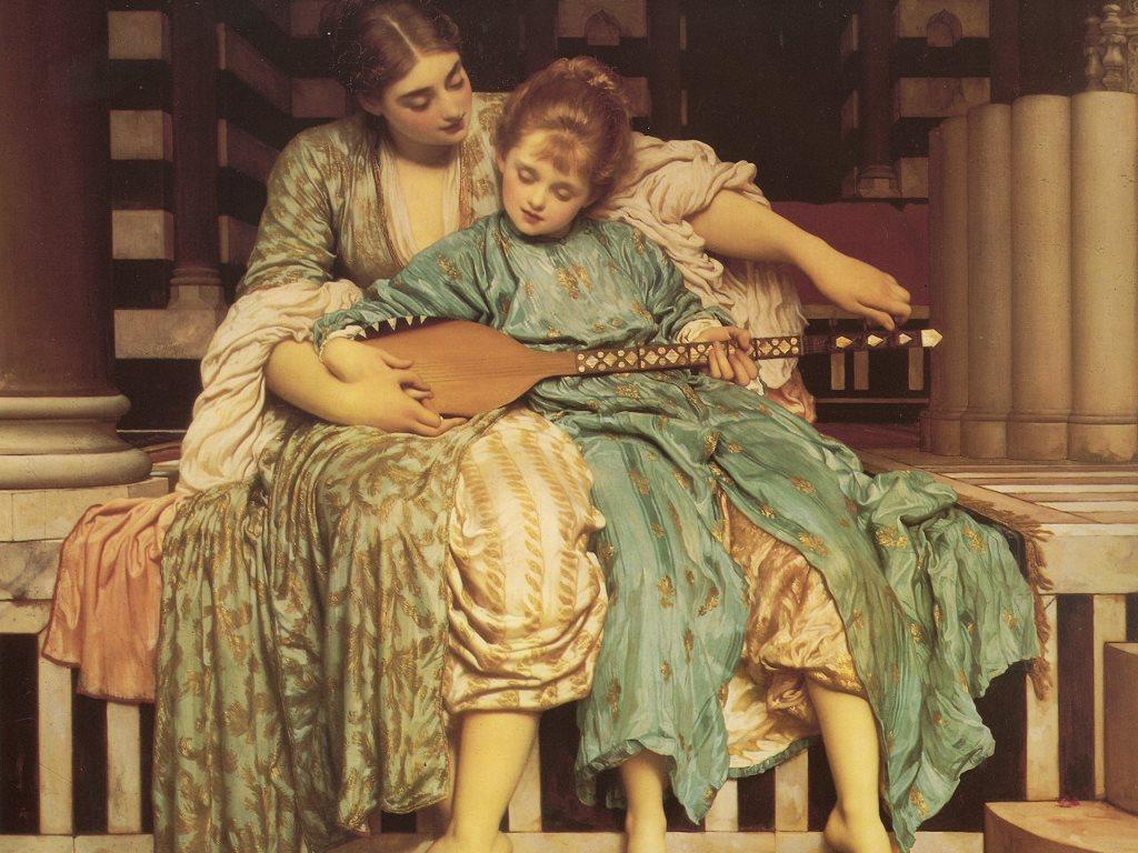 Artistic Wallpaper: Leighton - Music Lesson