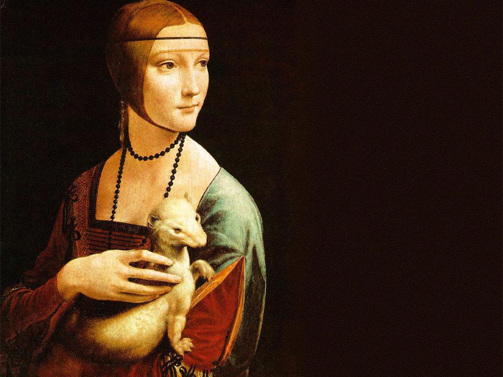Artistic Wallpaper: Leonardo Da Vinci - Lady with an Ermine