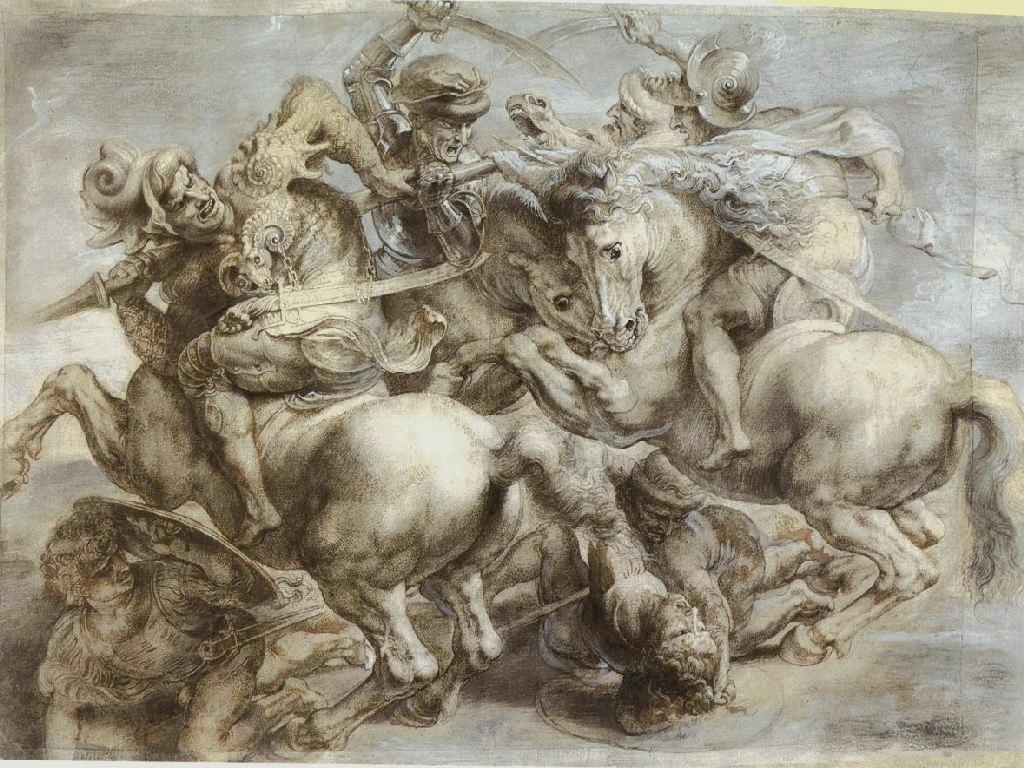 Artistic Wallpaper: Leonardo Da Vinci - The Battle of Anghiari