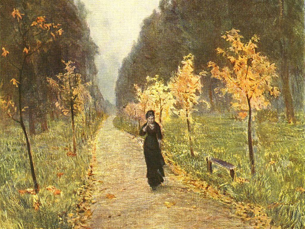 Artistic Wallpaper: Levitan - Autumn Day