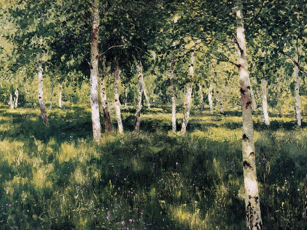 Artistic Wallpaper: Levitan - Birch Forest