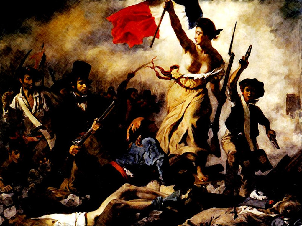 Artistic Wallpaper: Liberty Leading the People