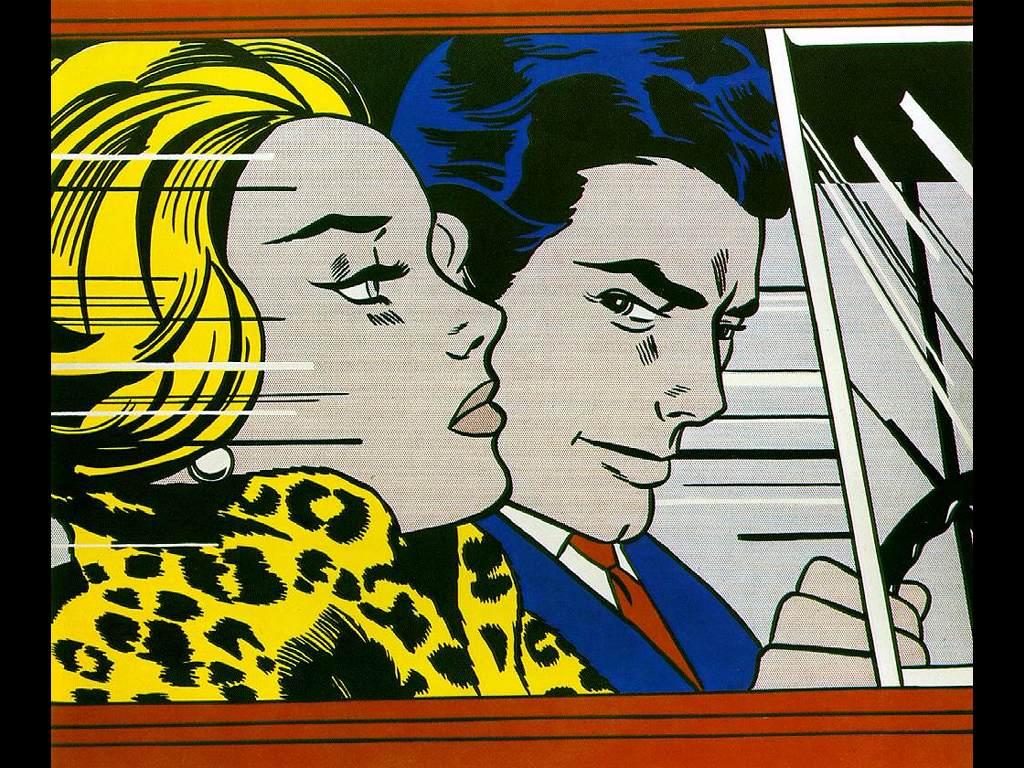 Artistic Wallpaper: Lichtenstein - In the Car
