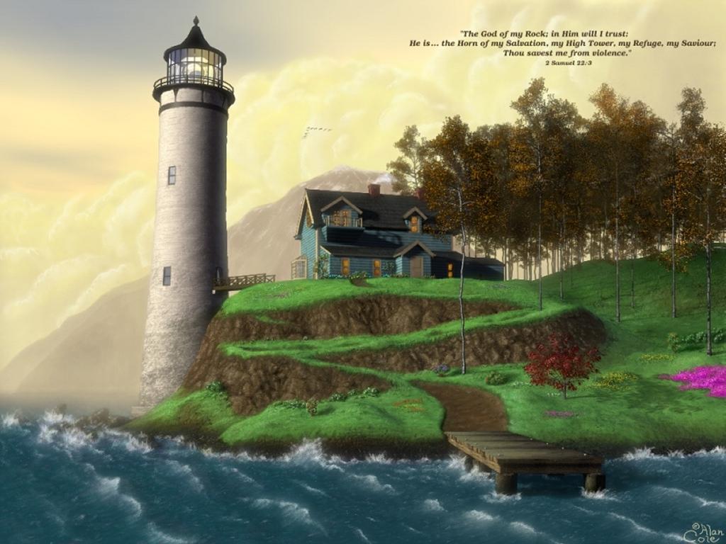 Artistic Wallpaper: Lighthouse