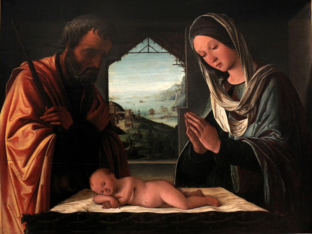 Artistic Wallpaper: Lorenzo Costa - Nativity