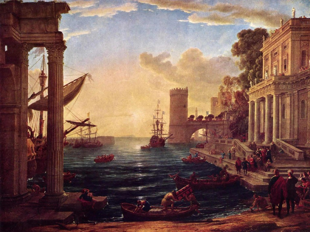 Artistic Wallpaper: Lorrain - The Embarcation of the Queen of Sheba