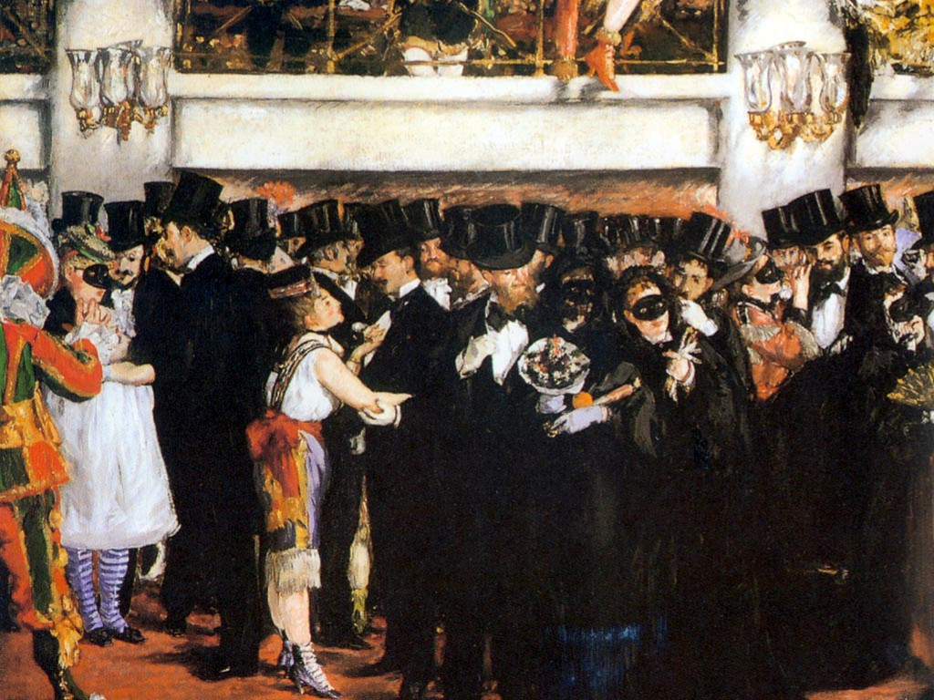 Artistic Wallpaper: Manet - Masked Ball at the Opera