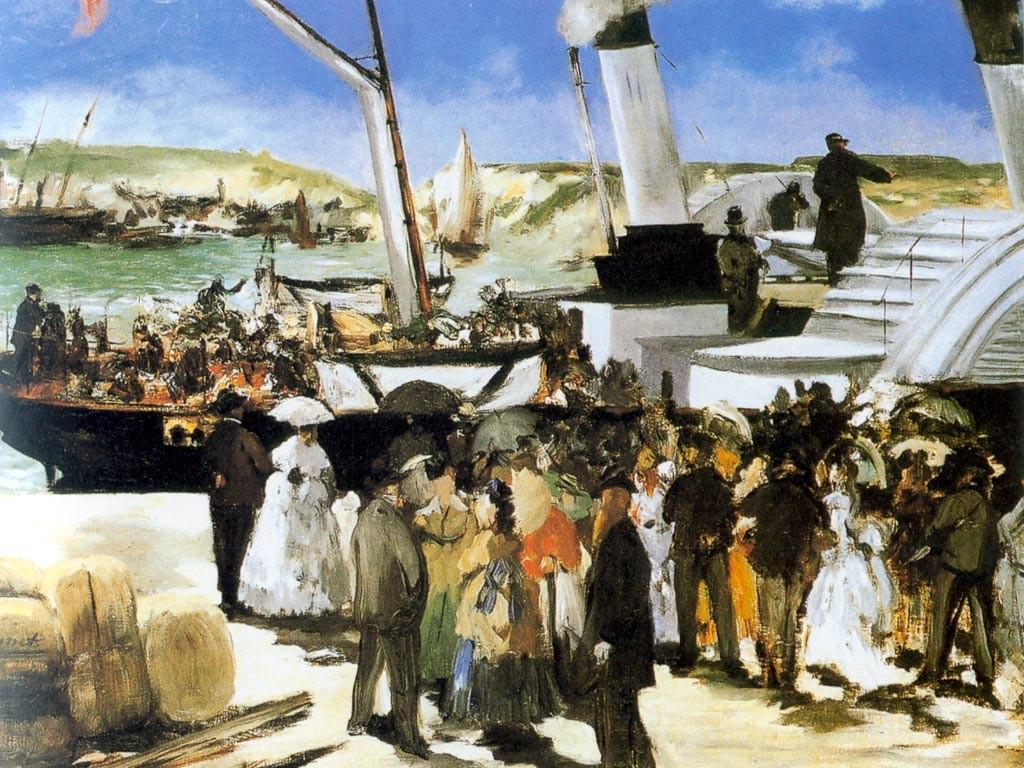 Artistic Wallpaper: Manet - Le Depart de Folkestone