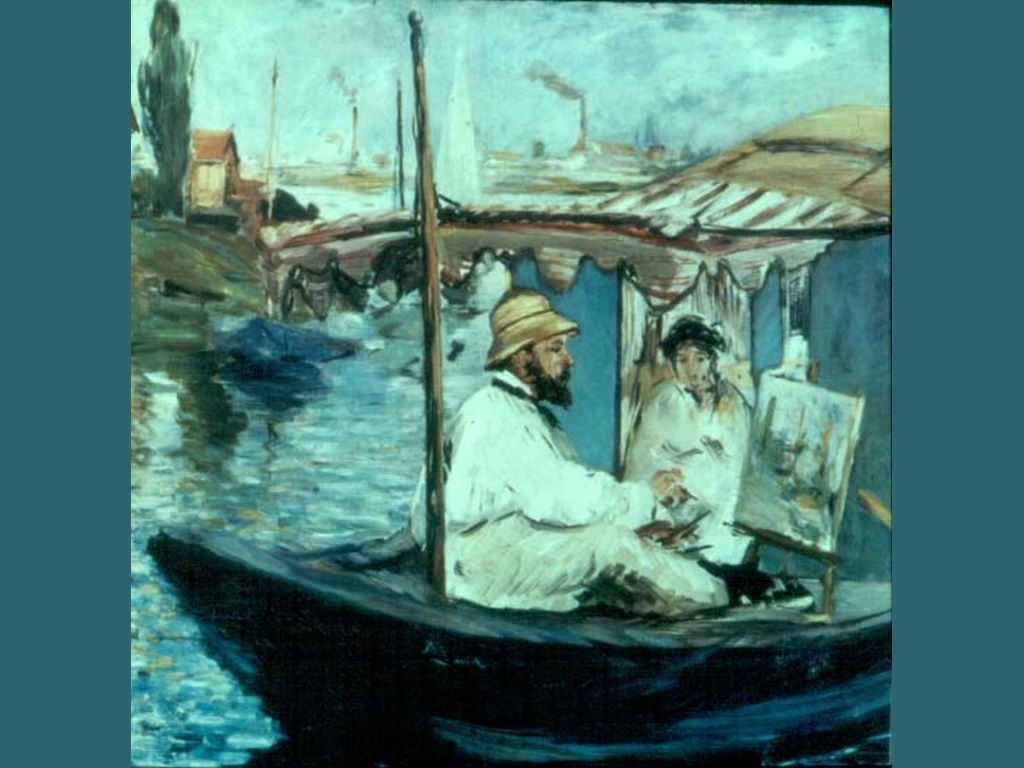 Artistic Wallpaper: Manet - Monet Painting Boat