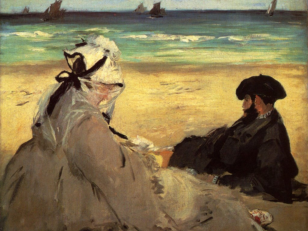 Artistic Wallpaper: Manet - On the Beach