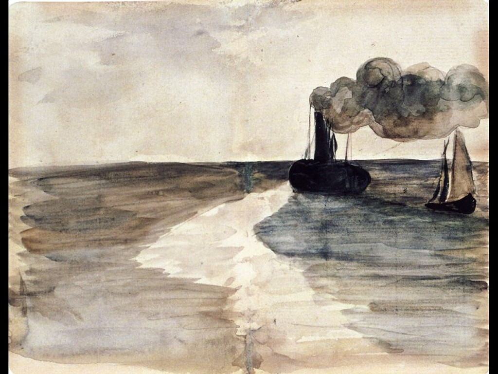 Artistic Wallpaper: Manet - Steamboat