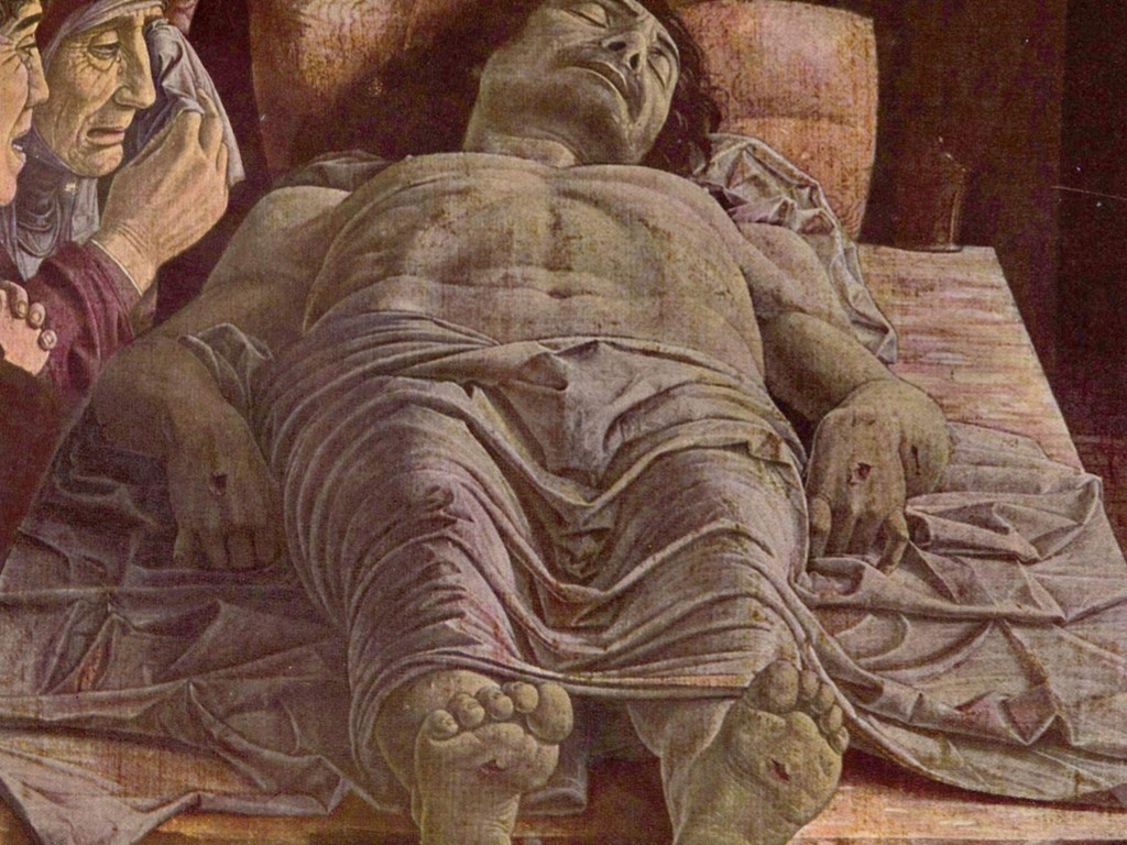 Artistic Wallpaper: Mantegna - Lamentation of Christ