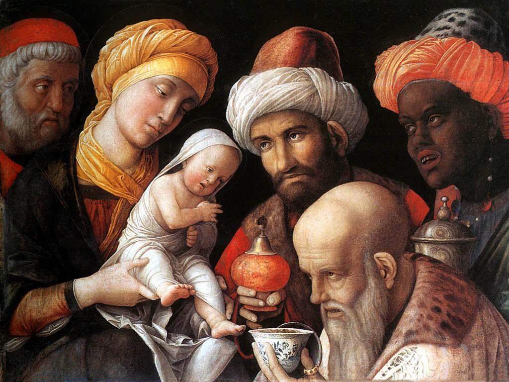 Artistic Wallpaper: Mantegna - The Adoration of the Magi
