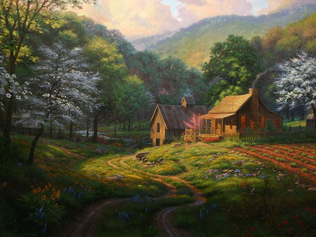 Artistic Wallpaper: Mark Keathley - Country Blessings