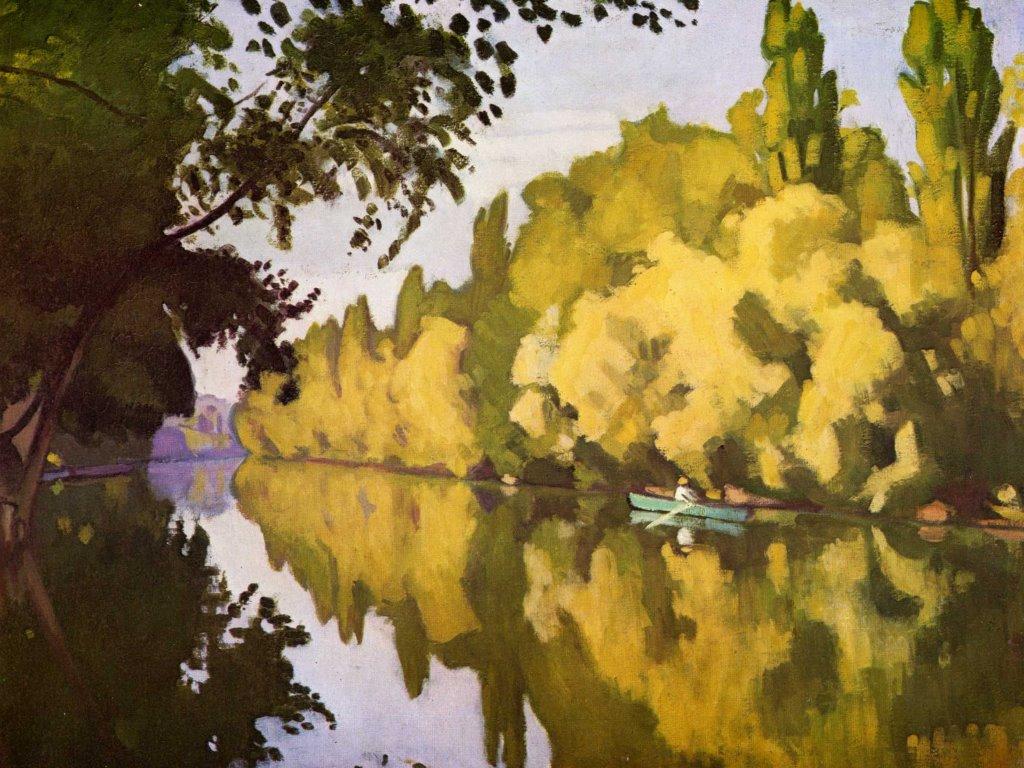 Artistic Wallpaper: Marquet - River Scene