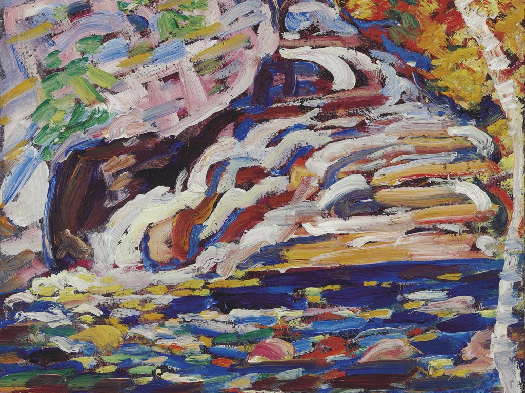 Artistic Wallpaper: Marsden Hartley - Autumn Cascade