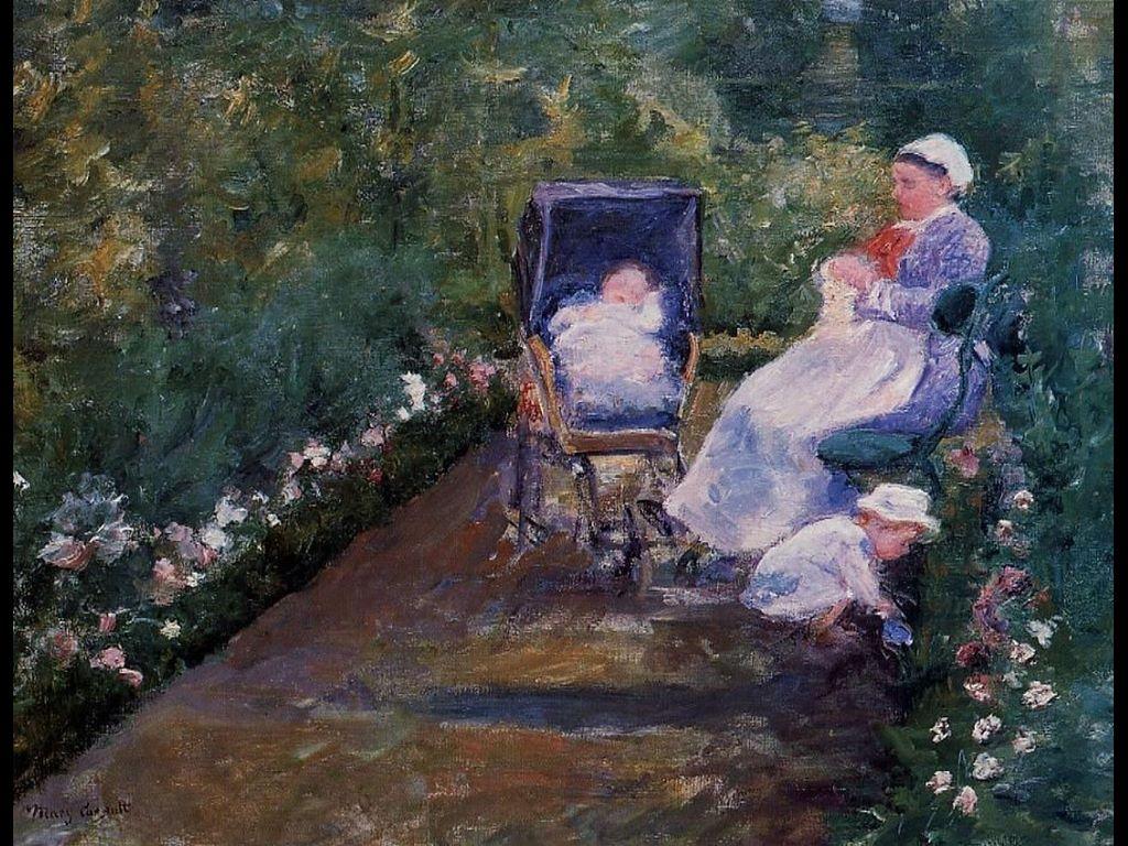 Artistic Wallpaper: Mary Cassat - Children in a Garden