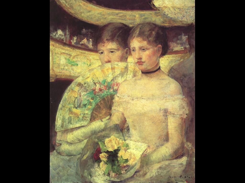 Artistic Wallpaper: Mary Cassatt - The Loge