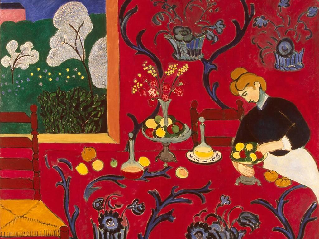 Artistic Wallpaper: Matisse - Red Room