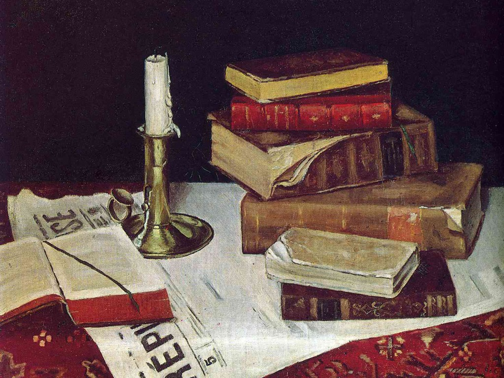 Artistic Wallpaper: Matisse - Still Life With Books and Candle