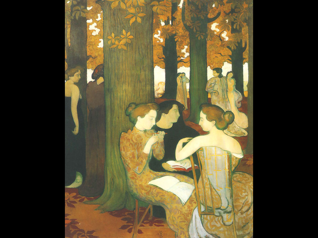 Artistic Wallpaper: Maurice Denis - The Muses