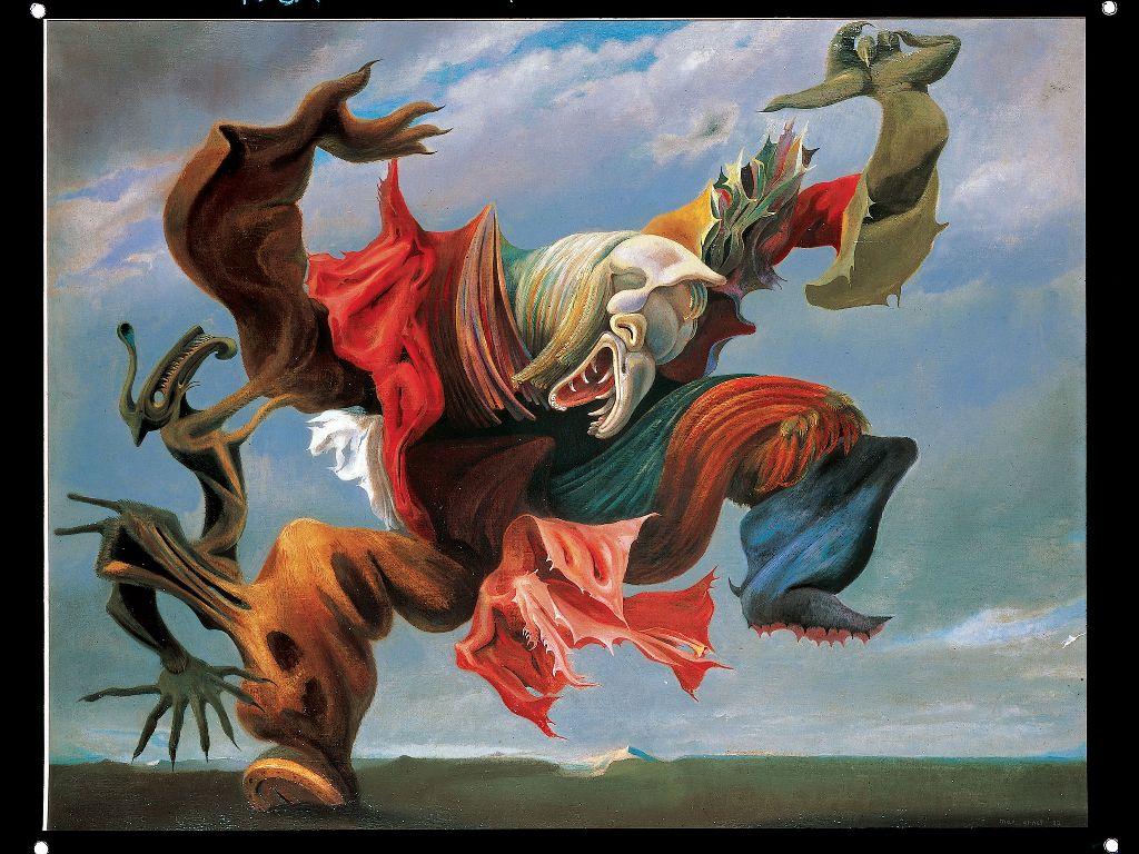 Artistic Wallpaper: Max Ernst - Ocell de Foc