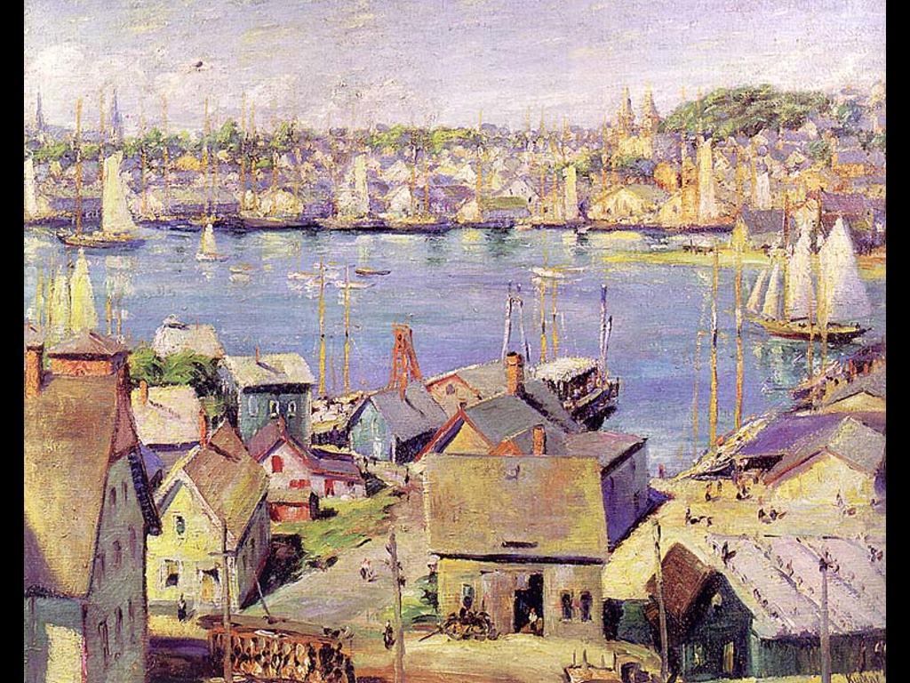 Artistic Wallpaper: Max Keuhne - Gloucester Harbor