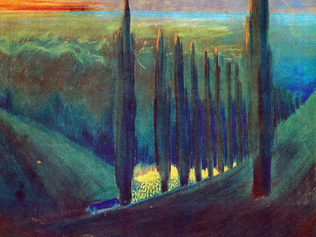 Artistic Wallpaper: Mikalojus Ciurlionis - Funeral Symphony