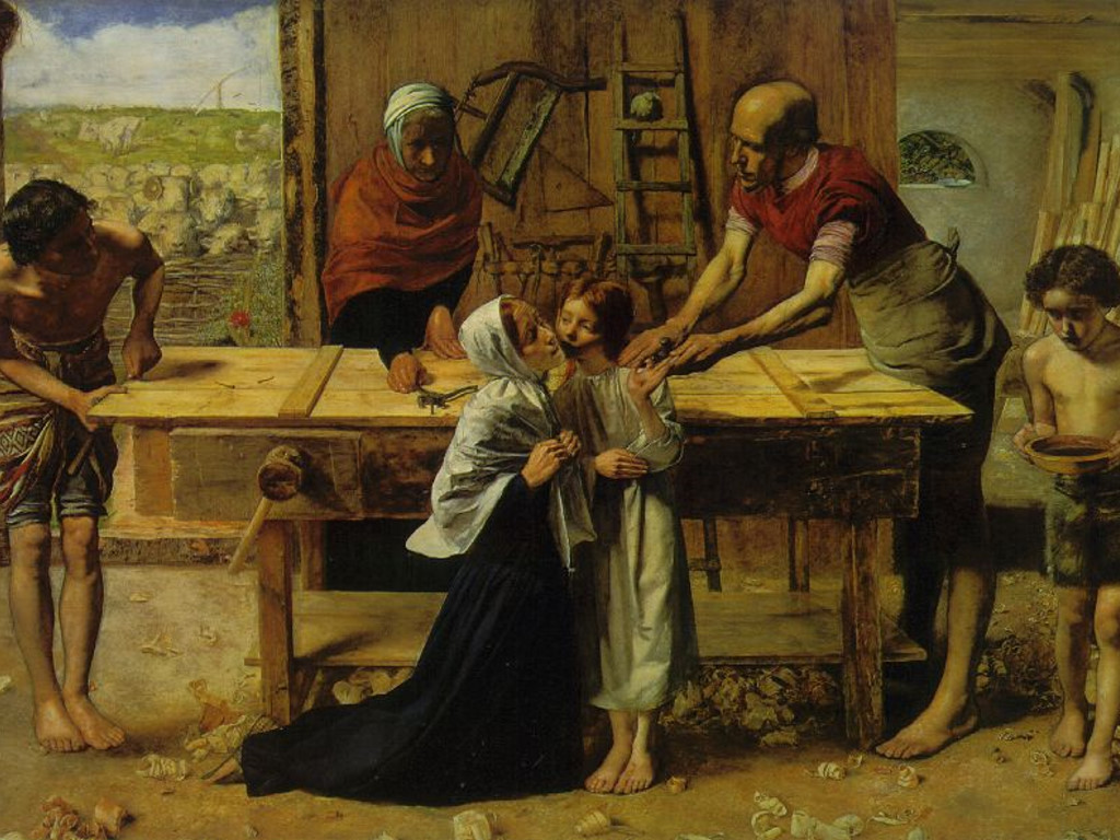 Artistic Wallpaper: Millais - Christ in the House of His Parents