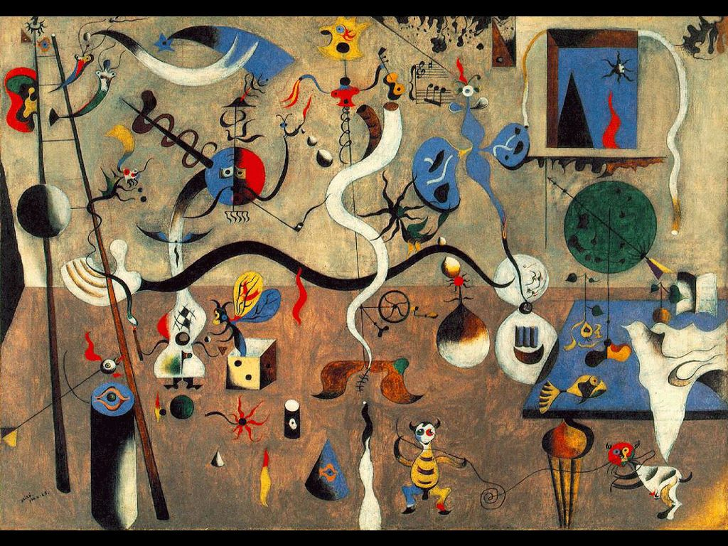 Artistic Wallpaper: Miró - Carnival Harlequin