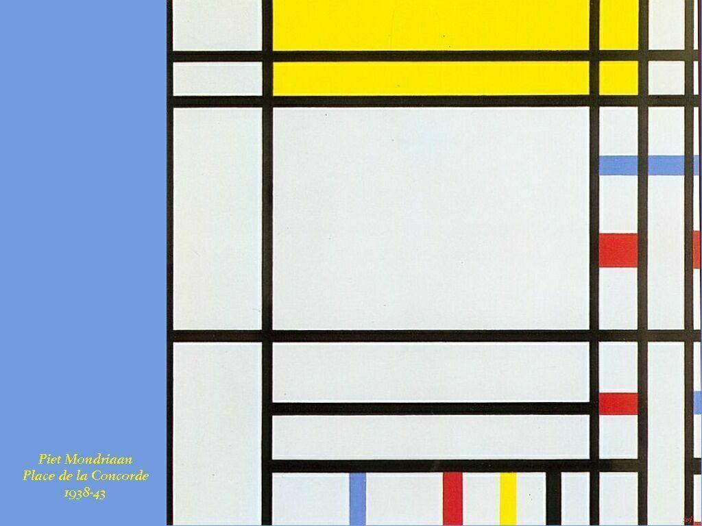 Artistic Wallpaper: Mondrian - Place de La Concorde