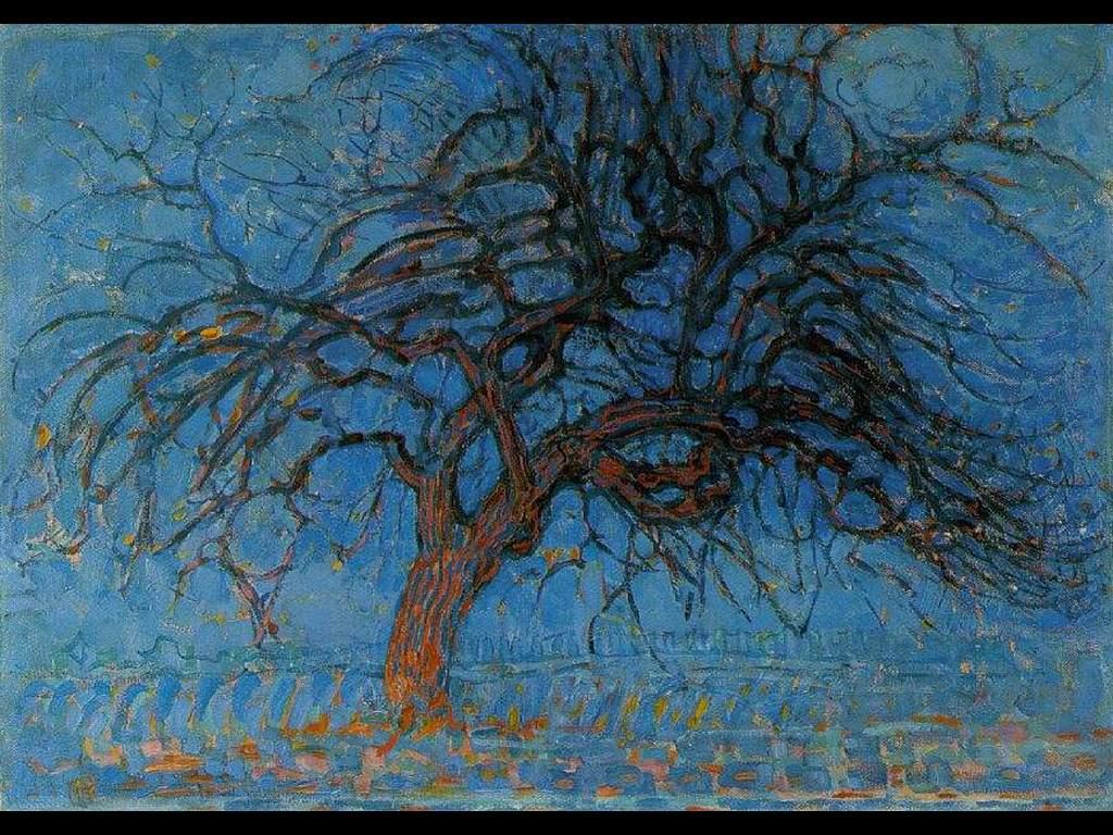 Artistic Wallpaper: Mondrian - Red Tree