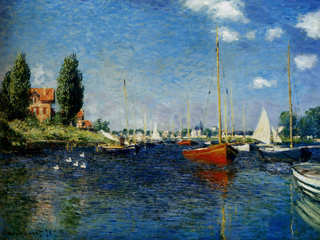 Artistic Wallpaper: Monet - Argenteuil