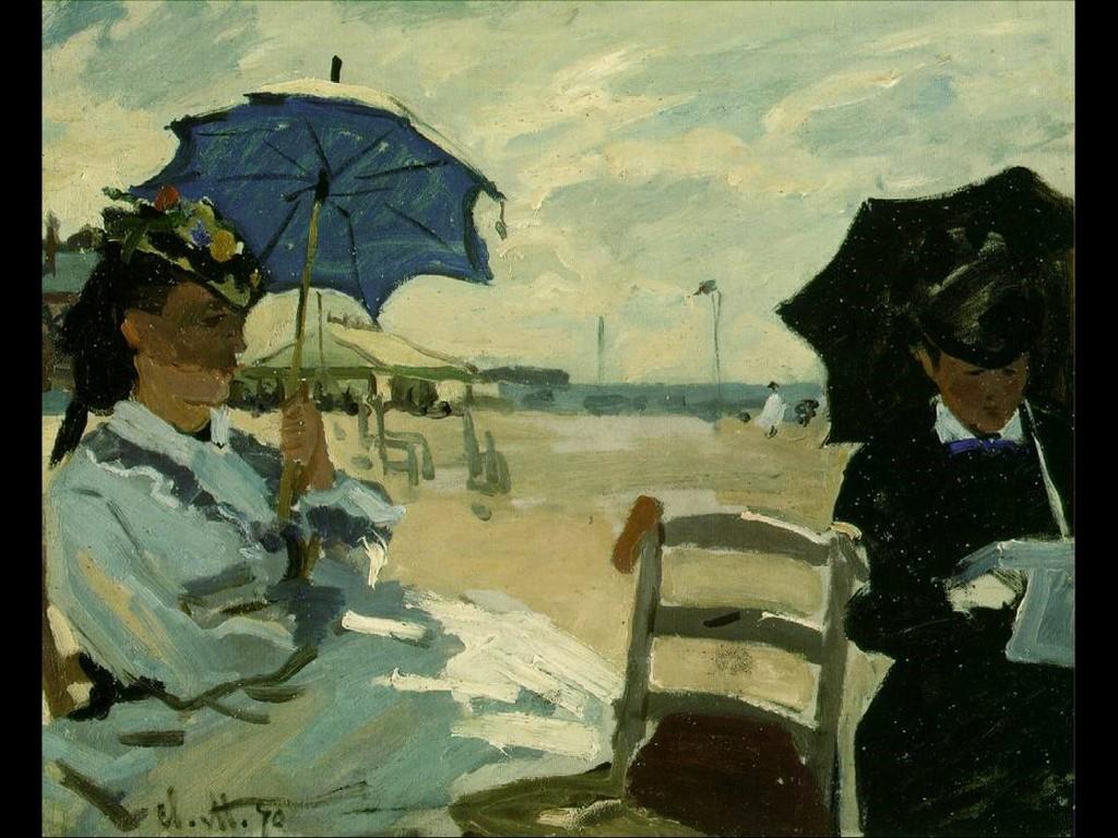Artistic Wallpaper: Monet - Beach at Trouville