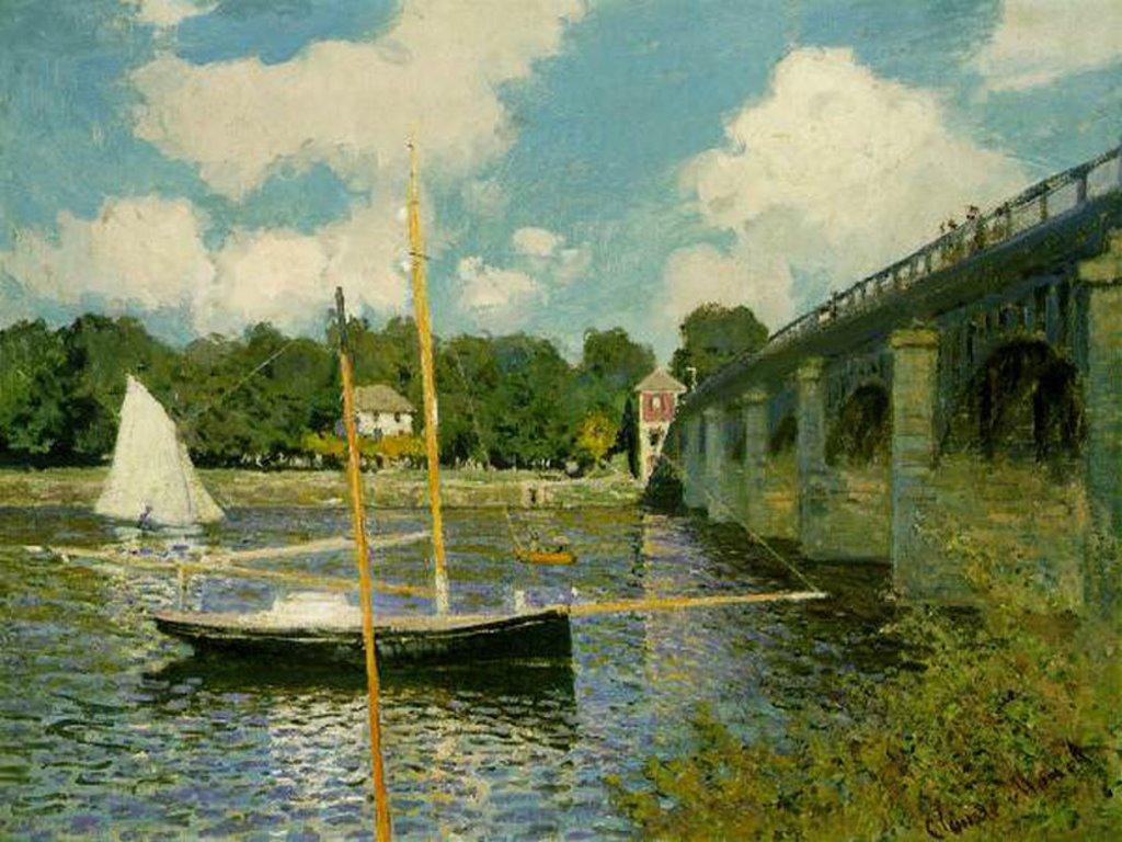 Artistic Wallpaper: Monet - Boat